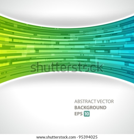 Abstract technology lines vector background eps 10 - stock vector