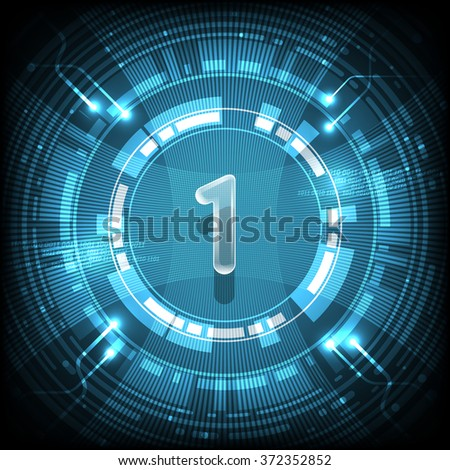 Abstract technology Number 1 - stock vector
