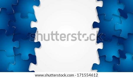 Abstract technology puzzle vector background