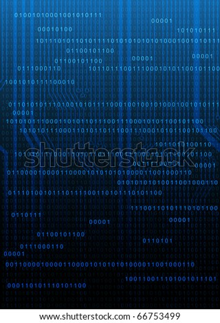 Abstract technology style background with circuit board texture and numbers pattern - stock vector