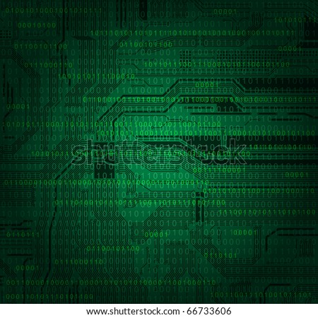 abstract technology style background with detailed circuit board texture and numbers pattern. Eps10 - stock vector
