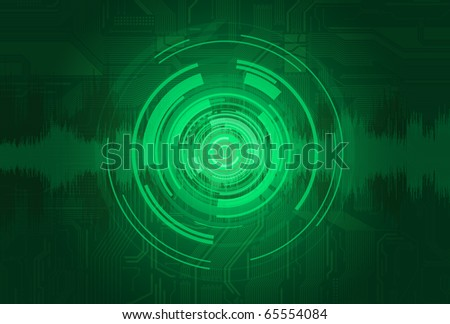 Abstract technology style vector background eps10 - stock vector