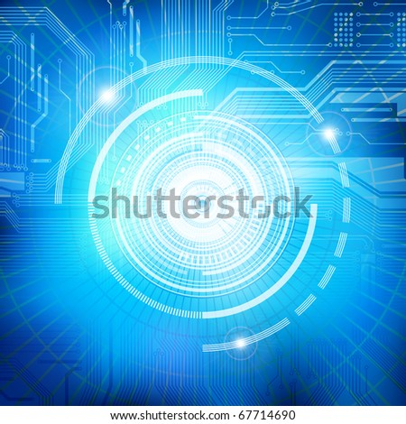 Abstract technology theme vector background. Eps10 - stock vector