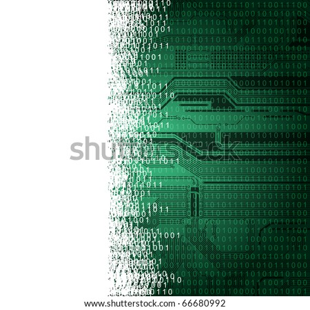 abstract technology theme vector background with empty space for text - stock vector