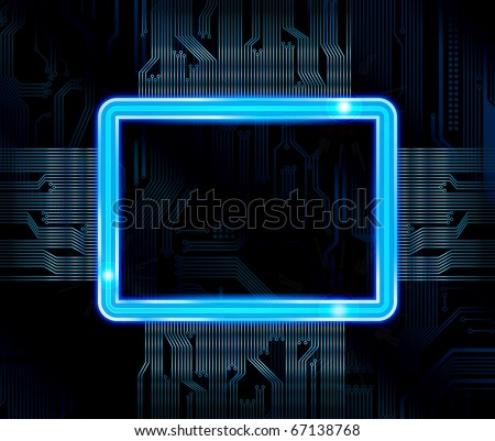 Abstract technology theme vector banner. eps10 - stock vector