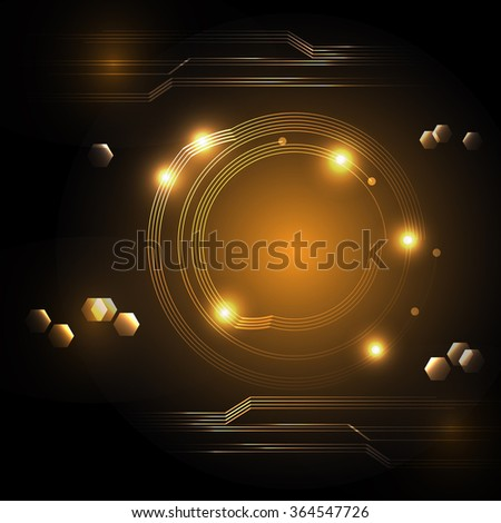 abstract technology.vector background. - stock vector