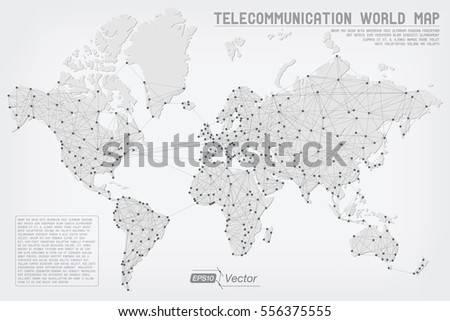 Abstract telecommunication world map detailed eps 10 stock vector abstract telecommunication world map detailed eps10 vector design organized layers gumiabroncs Image collections