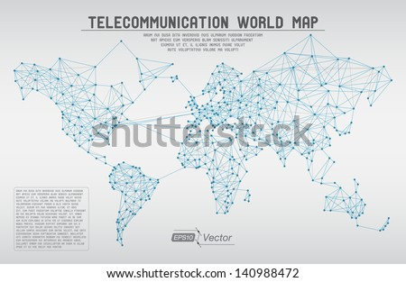 Abstract telecommunication world map circles lines stock vector abstract telecommunication world map with circles lines and gradients detailed eps10 vector design gumiabroncs Images