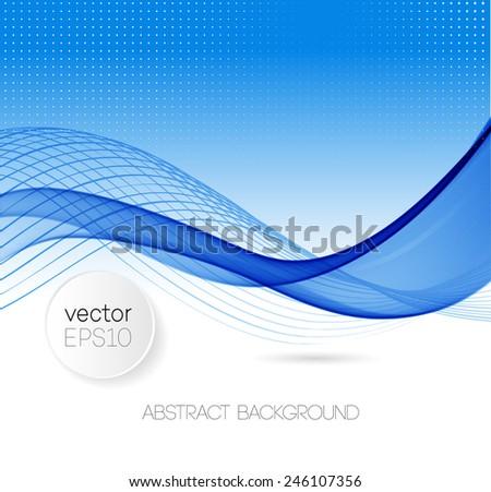 Abstract template background with blue wave