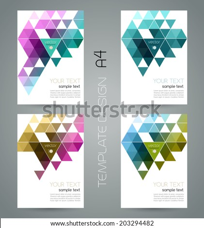 Abstract template background with triangle - stock vector