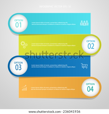 Abstract template. Can be used for workflow layout, banner, diagram, web design, infographic Vector/illustration - stock vector