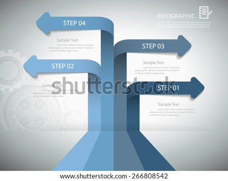 Abstract template for business design, reports, step presentation, number options, progress, workflow layout or websites. - stock vector