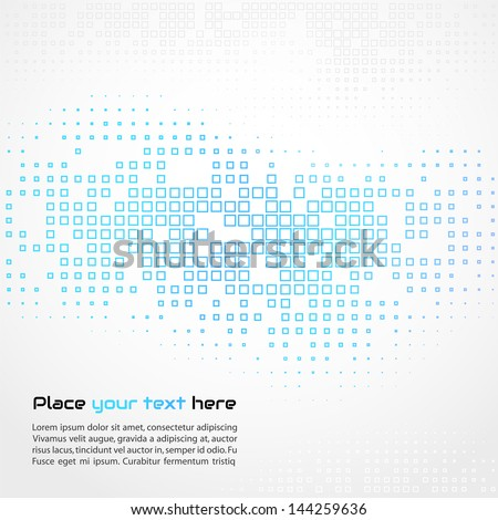Abstract template  mosaic background - stock vector