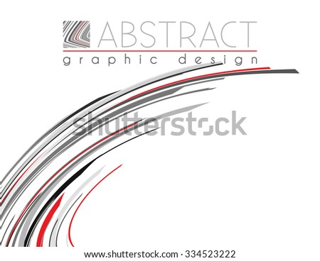 Abstract template of page with black, red and gray strips. Vector graphic design layout - stock vector
