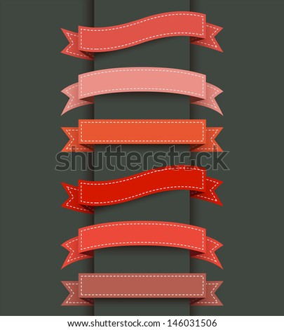 Abstract template ribbon banner - stock vector