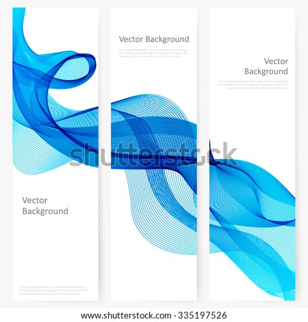 Abstract template vertical banner with transparent smoke - stock vector