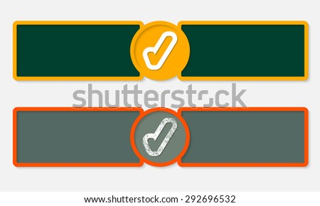 Abstract text frames for your text and check box - stock vector