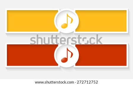 Abstract text frames for your text and music symbol - stock vector