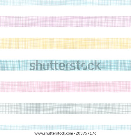 Abstract textile colorful stripes seamless pattern background - stock vector
