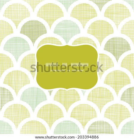 Abstract textile green fishscale frame seamless pattern background - stock vector