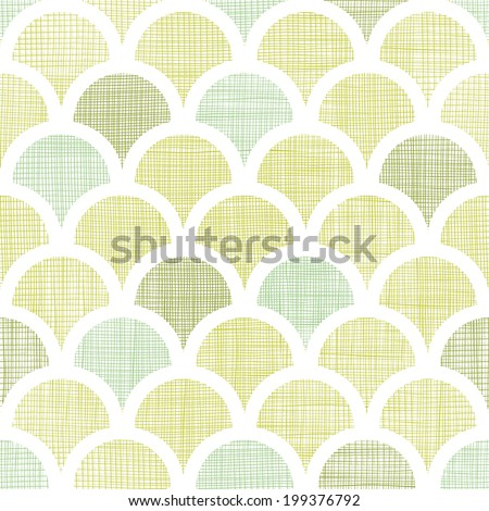 Abstract textile green fishscale seamless pattern background - stock vector