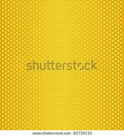 Abstract texture of Perforated gold metal/  honeycombs texture - stock vector