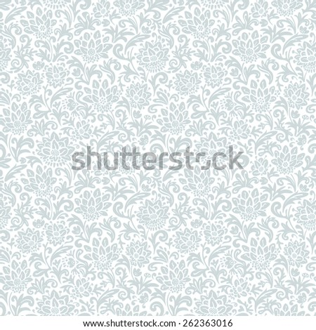 Abstract texture with flowers and leaves. Seamless floral pattern. Vector endless background. - stock vector
