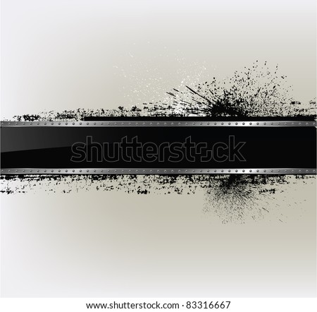 Abstract textured background with a metal frame - stock vector