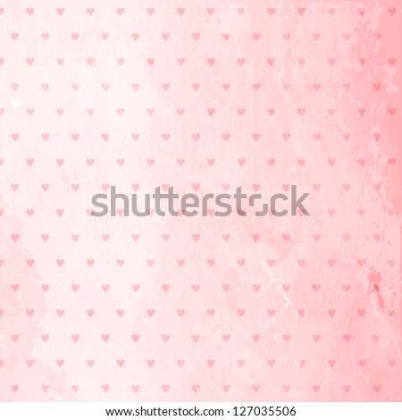 Abstract textured background with heart pattern. - stock vector