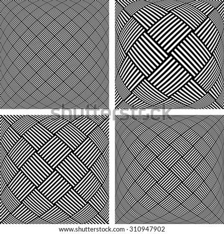 Abstract textured backgrounds set. Vector art. - stock vector