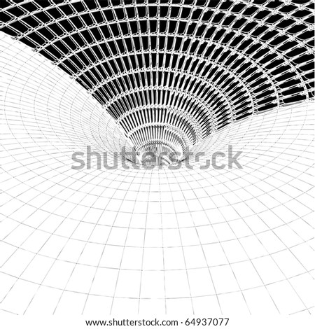 Abstract Tile And Grid Tunnel Constructions Vector 212 - stock vector