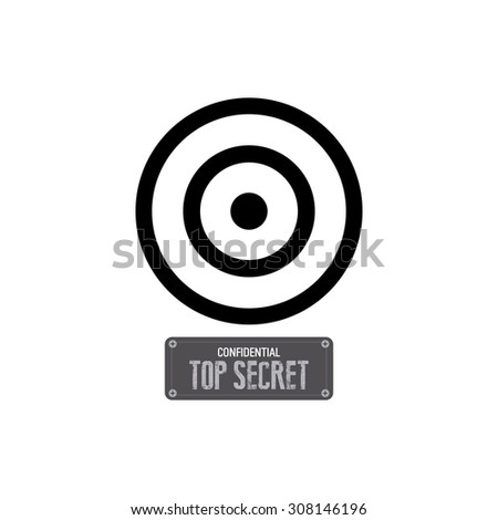 Abstract top secret label on a white background - stock vector