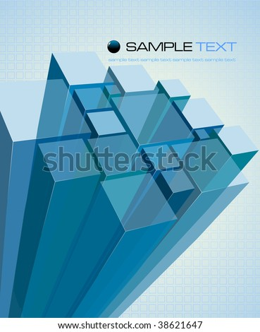 Abstract transparent blue background - vector illustration - stock vector