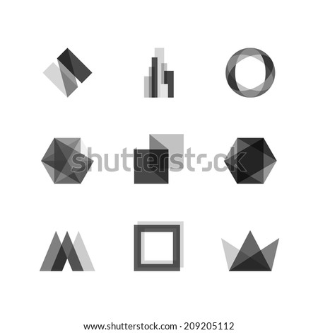 Abstract transparent design elements - stock vector