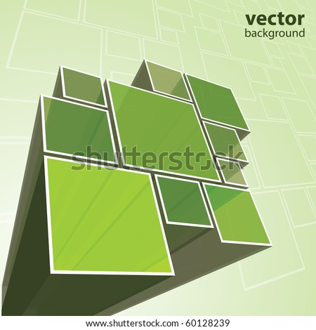 Abstract transparent green background vector - stock vector
