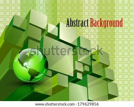 Abstract transparent modules composition - vector illustration - stock vector