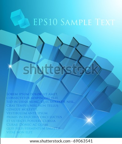 Abstract transparent modules - vector illustration - stock vector