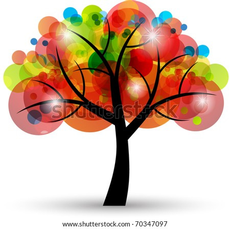 abstract transparent tree - stock vector