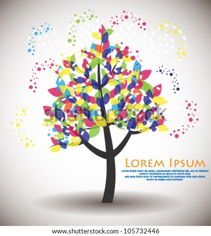 Abstract tree. - stock vector