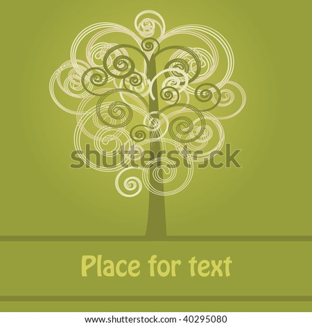 Abstract tree background. Vector illustration.