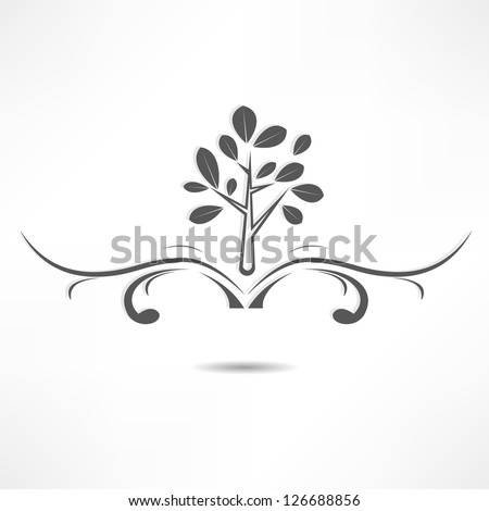 abstract tree icon - stock vector