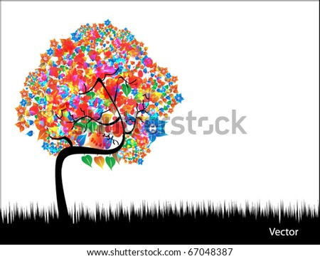 abstract tree illustration - stock vector