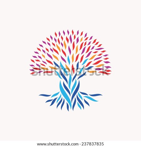 Abstract tree illustration concepts unity community stock vector abstract tree illustration concepts for unity community team work diversity ethnic and sciox Images