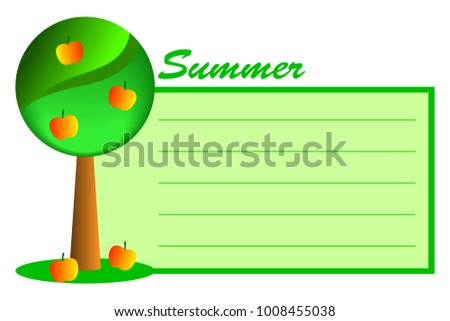 abstract tree summer ripe apples on stock vector royalty free