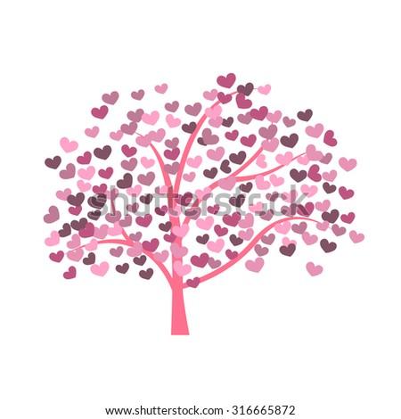 Abstract tree made hearts tree heartshaped leaves stock photo photo abstract tree made with heartsee heart shaped leaves vector mightylinksfo