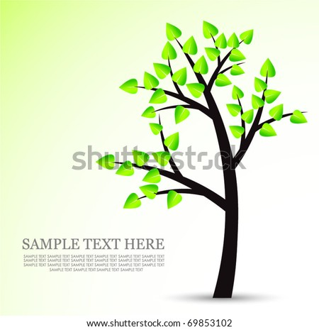 abstract tree template