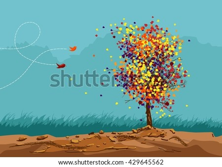 abstract tree vector, - stock vector