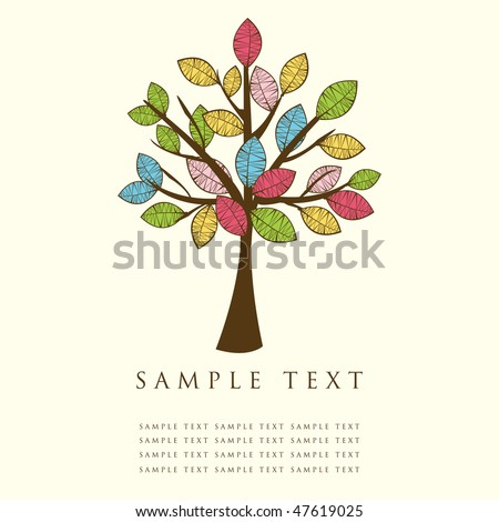 Abstract tree. Vector. - stock vector