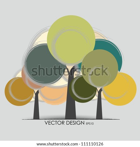 Abstract tree. Vector illustration. - stock vector