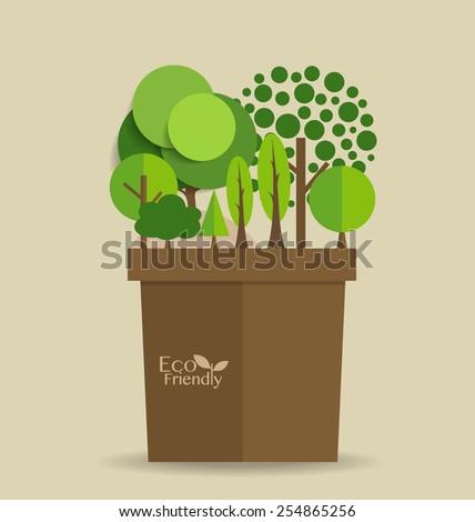Abstract tree. Vector illustration. - stock vector